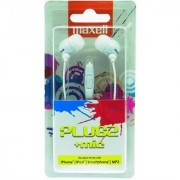 Maxell - Plugz In-ear Earphone for MP3 Players/Mobiles (White)