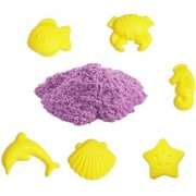 UNTOLD 1KG MAGIC SAND | COLORFUL SAND WITH 6 PIECE MOLDS - PURPLE COLOR