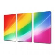 Tablou Canvas Premium Abstract Multicolor Alaturare De Culori Decoratiuni Moderne pentru Casa 3 x 70 x 100 cm