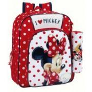 Ghiozdan jr + penar Minnie Mouse 32 cm