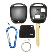 Meco 2 Button Remote Key FOB Case Shell With Keychain For Toyota Yaris Core Hatchback