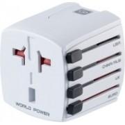 Go Travel Universal World Travel Plug Worldwide Adaptor(White)