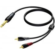 Kabl za muzičke instrumente ProCab CLA719/3 jack6,3mm na 2xRCA/činč, 3m