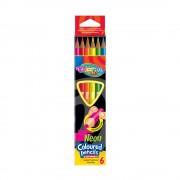 Creioane colorate triunghiulare Colorino, 6/set