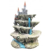 Mythical Fantasy Miniature Display Stand Waterfall With Castle Fort Peak Figurine