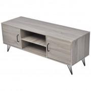 vidaXL TV stolík, 120x40x45 cm, sivý