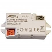 Fuente Switching Interna Gralf 12v 1a Premium Con Bornera