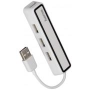 Hub USB Hama 12169 4 porturi USB 2.0 Alb