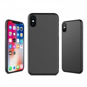 NILLKIN Synthetic Fiber Hard Plastic Case for iPhone X/XS - Black