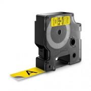 Dymo D1 laminált szalag DY45808 19mm, fekete / sárga