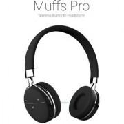 Portronics POR 645 Muffs Pro Wireless Bluetooth Headphone with AUX Port ( Black)