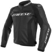 Dainese Racing 3 Perforerad motorcykel läder jacka Svart 46