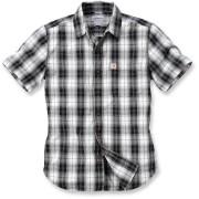 Carhartt Slim Fit Plaid Camisa de manga corta Negro/Blanco XL