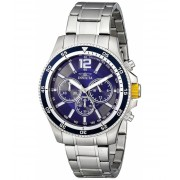 Invicta Watches Invicta Men's 13974 Specialty Analog Display Japanese Quartz Silver Watch BlueSilver
