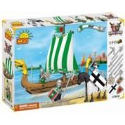 Set de construit Barca usoara cu panze 250 piese - Cobi