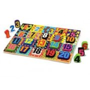 Melissa & Doug Puzzle Lemn In Relief Numere De La 1 La 20