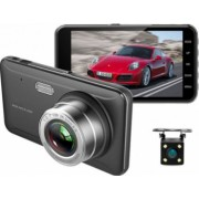 Camera Video Auto DVR Dubla FullHD Techstar and reg A17 Unghi 170 and deg Display 4 inch Senzori Miscare si Night Vision