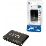 LogiLink Cardreader USB 2.0 USB 2.0 Zwart geheugenkaartlezer