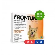 Frontline Top Spot Small Dogs 0-22 Lbs (Orange) 3 Pipette + 1 Pipette Free