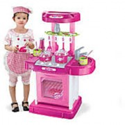 Kids Kitchen Set Toy With Light And Sound