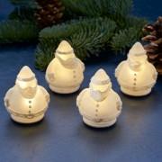 Set of 4 LED decorative light Santa