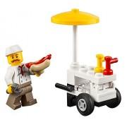 LEGO City MiniFigure: Hot Dog Vendor (w/ Hot Dog Cart) 60134