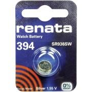 Baterie buton oxid de argint 394, 1,55 V, 84 mAh, Renata