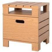 Homcom Tavolino Comodino Modello Pallet in Legno, 43x34.5x47cm