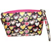 Everyday Desire Multipurpose Cosmetic Makeup Pouch For Women - Hearts Travel Toiletry Kit(Multicolor)