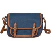 peaubella Blue, Tan Sling Bag