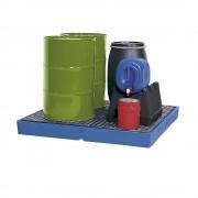 Kunststoff-Flachwanne mit PE-Gitterrost Auffangvolumen 125 Liter
