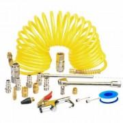 Kit de racores y accesorios para compresor. 20 piezas