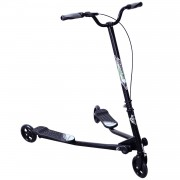 HOMCOM Kids 3 Wheels Speeder Scooter, L Size-Black