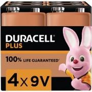 Duracell Plus Power 9v Packet Med 4 (MN1604B4)