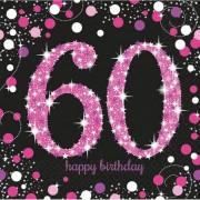Happy Birthday 60 szalvéta girl 16 db-os