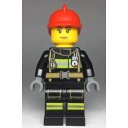 cty0963 Minifigurina LEGO City-Pompier fata cty0963