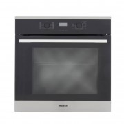 Miele ContourLine H2561B CleanSteel Single Built In Electric Oven