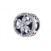 Talisman argint 925 floare de zirconiu alb