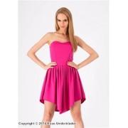 Tubklänning med v-formad kjol
