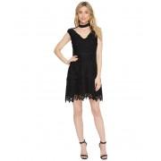 Laundry by Shelli Segal Cap Sleeve V-Neck Fit amp Flare Dress Black