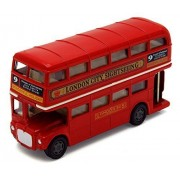 "London Double Decker Bus , Red Motormax 76002 4.75"" Diecast Model Toy Car"