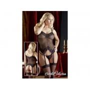 Set lenjerie sexy corset, chiloti, ciorapi