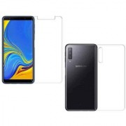 Wildfab Hammer Proof Flexiable Glass Guard Impossible Screen Protector Screen Guard (Better than Tempered Glass) for Samsung Galaxy A7 (2018) (Front Back)