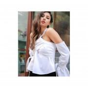Blusa Color Blanca Primavera Verano