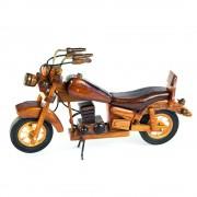 Motocicleta din lemn, macheta decorativa pentru colectionari
