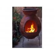Sol-y-Yo Chimenea Mexicaanse tuinkachel Barbecue Jumbo (rood)