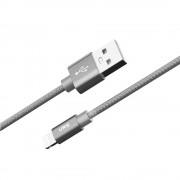 Verus Sync and Charge Lightning - плетен Lightning кабел за iPhone, iPad, iPod (сив)