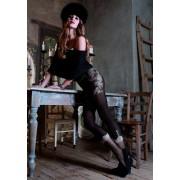 Strumpbyxor i trendigt leggings-look med floralt mönster Italy från Trasparenze nero 3