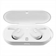 Bluetooth Wireless Sport IPX7 Waterproof Earphone with Charging Box for Huawei / Samsung / Xiaomi / Apple Etc - White