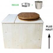 Toilette sèche - La Bac Bambou inox - rehaussée